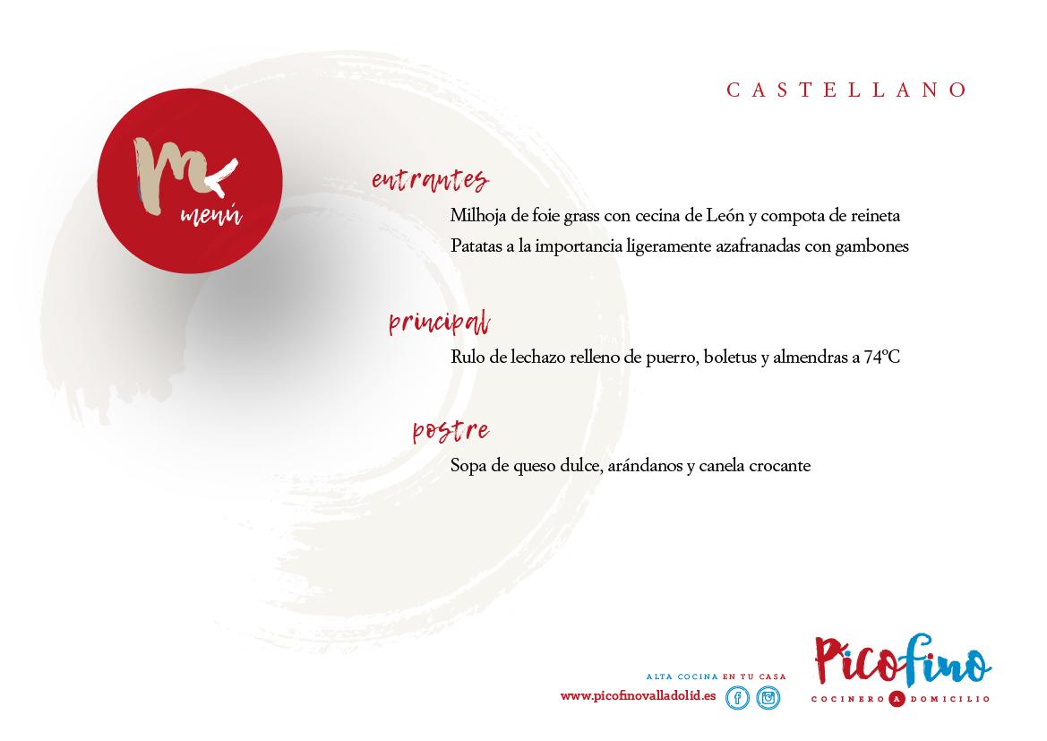 Menu Castellano